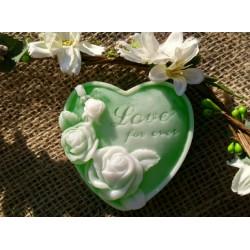 Srdce s růží - vůně zeleného čaje