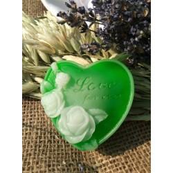 Srdce s růží,zelený čaj s citronovou trávou